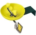 Speakman SE-495-ADA Wall Mounted Eye/Face Wash with Yellow Plastic Bowl