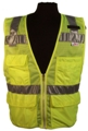 Vinatronics Micro-Mesh Economy ANSI Class 2 Road Vest w/ Cell Phone Pocket