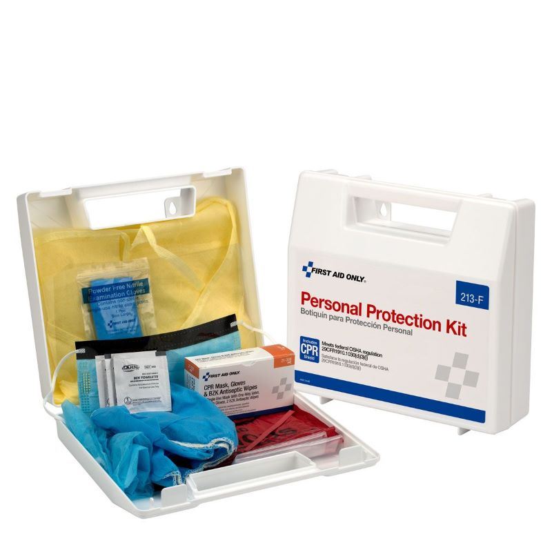 First Aid Only Bloodborne Pathogen Personal Protection Kit w/ 6 pc CPR Pack