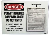 Confined Space Entry Permit Holder W/Entry Permits - EPH