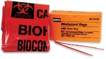 North Biohazard Bags, 10/Box - 021602