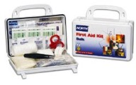North Bulk First Aid Kit, 10 Person Plastic Kit