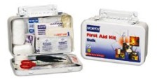 North Bulk First Aid Kit, 10 Person Metal Bulk Kit