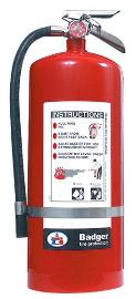 Badger 20 lb Extra BC Fire Extinguisher w/ Wall Hook Bracket - 23482