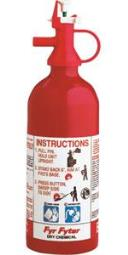 Kidde Pindicator 1 lb BC Disposable Fire Extinguisher w/ Wall Hook