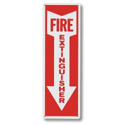 Brady Vinyl Fire Extingusiher Sign w/Arrow 85261