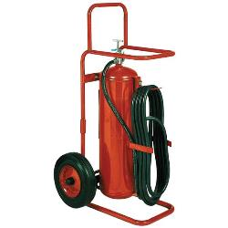 Badger 50 lb Wheeled Stored Pressure ABC Fire Extinguisher with 25' Hose - 20127