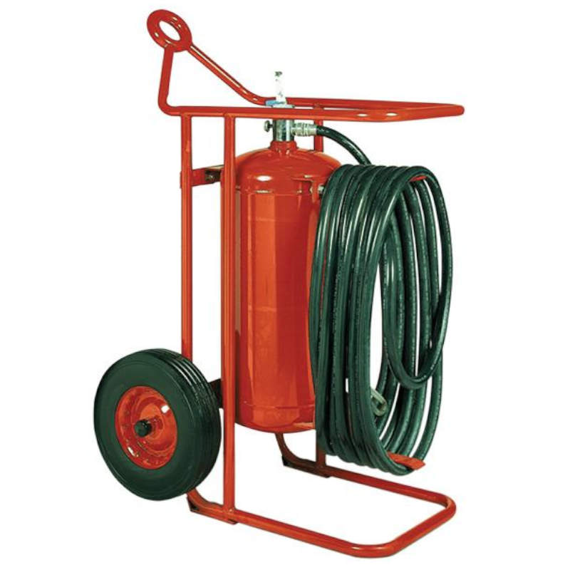 Badger 125 lb Wheeled Stored Pressure ABC Fire Extinguisher with 50' Hose - 20653