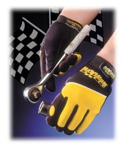 Professional Mechanics Gloves - Black & Hi-Vis Yellow - 120-MX2820