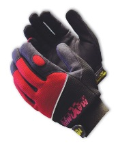 Professional Mechanics Gloves - Black & Red With Logo - 120-MX2840