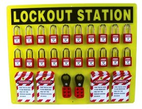 Nmc Lockout Tagout Station Large W High Visiblity Acrylic
