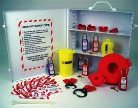 Lockout Tagout Station Cabinet W/Adjustable Shelving