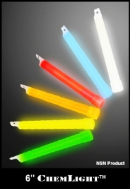 "Cyalume 6"" Chemlight Light Sticks, 12 Hour & 8 Hour - 10/10pks (100) Lights Per Case"