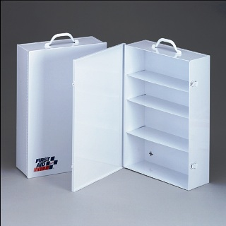Metal First Aid Cabinet Empty 4 Shelf First Aid Cabinet