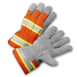 Radnor Select Shoulder Leather High Visibility Reflective Glove