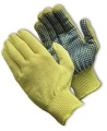 100% Kevlar, Medium Weight Glove, PVC Dots One Side - 08-K300PD