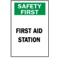 "Brady Safety Signs - ""First Aid Station"" Sign"