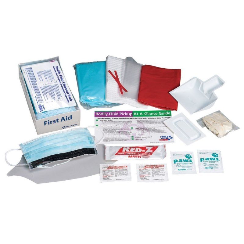 First Aid Only 214-P Bloodborne Pathogen Body Fluid Clean up Kit
