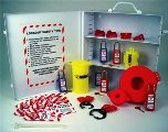 Lockout Tagout Station Cabinet W/Adjustable Shelving