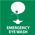 Emergency Eye Wash Sign with Image
