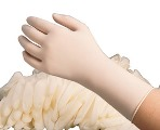 Radnor Disposable Medical Grade Latex Exam Gloves with Extended Cuff