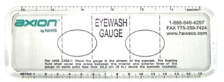 Haws Plastic Eyewash Gauges