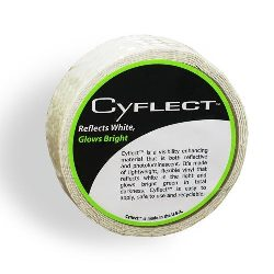 "Cyflect Adhesive Glow in the Dark Reflective Honeycomb Egress Tape - 1"" X 150' - 9-30006"