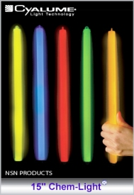 "Cyalume Light Sticks - 15"" Impact Chem-Light Chemical Light Sticks"
