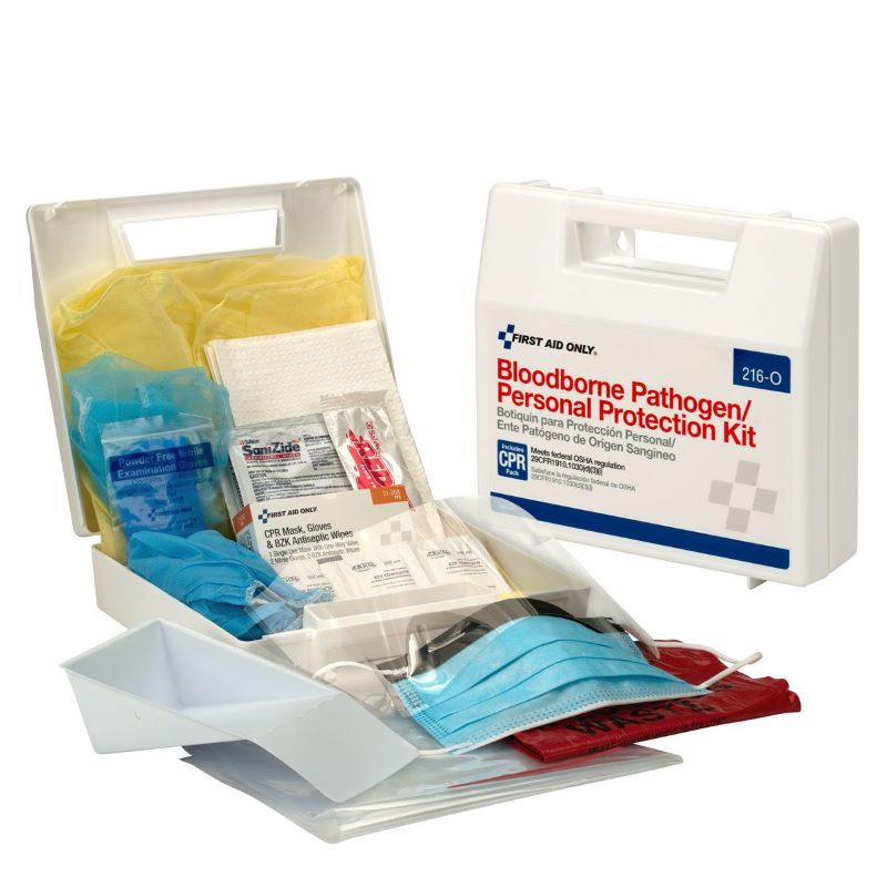 First Aid Only 216-O Bloodborne Pathogen/Personal Protection Kit W/ 6 Piece CPR Pack