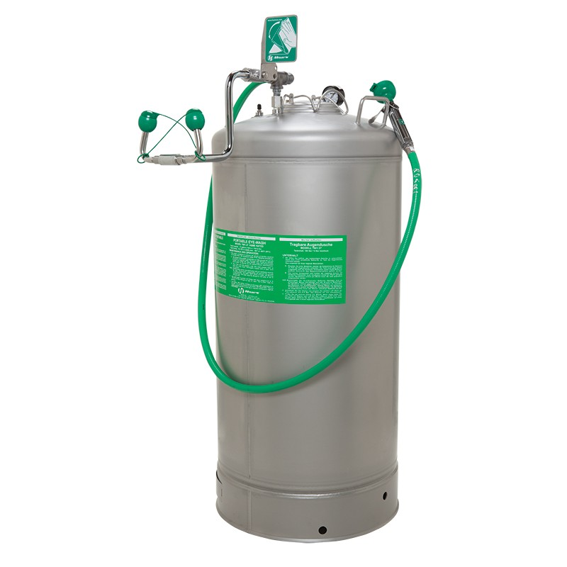Haws 7601.37- 37 Gallon Portable Stainless Steel Eyewash Tank With Body Spray
