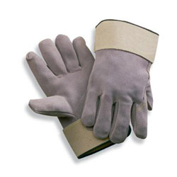 side split full leather back gloves