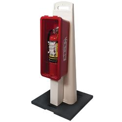 FireTech Fire Extinguisher Cabinet Stand Combo- CABSTAN