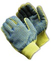 100% Kevlar Medium Weight Glove, PVC Dots Two Sides - 08-K300PDD