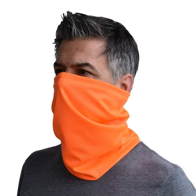 Radwear Universal Hi-Vis Orange Neck Gaiter - RAD-NGOBE, Pack of 6
