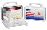 North Bloodborne Pathogen Response Kit, 10 Unit Plastic Box - # 019748-0033L