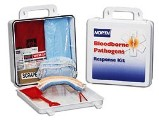 North Bloodborne Pathogen Response Kit, 24 Unit Size, Plastic Kit