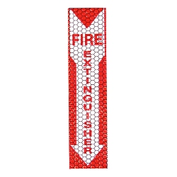 "Cyflect Adhesive Glow in the Dark and Reflective Fire Extinguisher Sign - 4"" X 17"" - 9-30071"