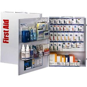 SmartCompliance 150 Person XL Metal First Aid Cabinet with Meds