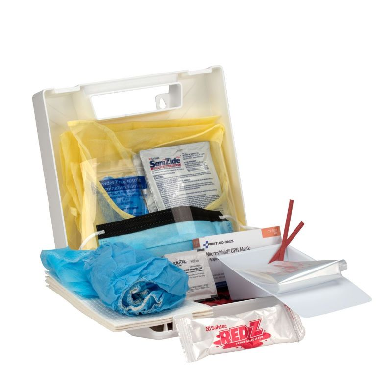 First Aid Only 217-0 Bloodborne Pathogen/Personal Protection Kit W/ Microshield CPR Shield - 217-O